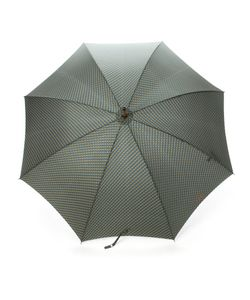 MISSONI VINTAGE | Geometric Print Umbrella From Featuring A Button Fastening Strap And A Wooden Handle