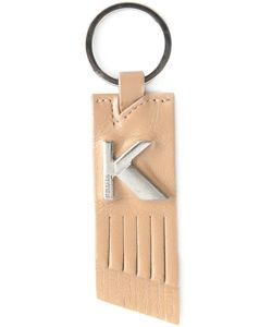 KRIZIA VINTAGE | Leather Logo Keyring From Featuring Tone Hardware And A Back Embossed Logo Stamp