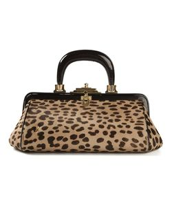 ROBERTA DI CAMERINO VINTAGE | Nude Calf Hair Leopard Print Tote From Featuring A Top Handle A Top Clasp Fastening A Tone Logo Plaque Tone Hardware And An Internal Zipped Pocket