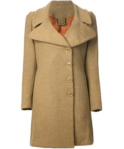 BIBA VINTAGE | Mustard Wool Wide Lapel Coat From Biba Featuring A Wide Lapel An Off-Centre Front Button Fastening Side Pockets Long Sleeves And Back Pleated Details