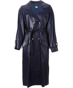 Celine Vintage | Кожаное Пальто С Поясом