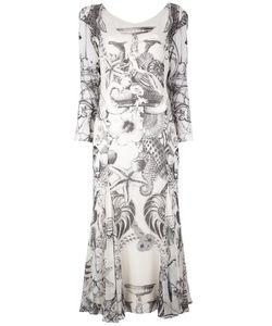 GIANFRANCO FERRE VINTAGE   Длинное Платье С Рисунком