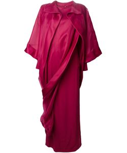 Givenchy | Асимметричное Платье В Пол Из Шифона