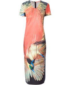 WALTER VAN BEIRENDONCK VINTAGE | Длинное Платье С Принтом Птицы