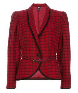 Emanuel Ungaro Vintage   Пиджак В Шотландку С Поясом