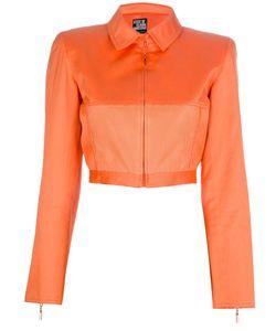 CLAUDE MONTANA VINTAGE | Укороченная Куртка С Сеткой