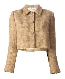 GUY LAROCHE VINTAGE | Sand Mohair And Wool Blend 80s Short Jacket From Guy Laroche Featuring A Classic Collar Long Sleeves With Button Cuffs And A Front Button Fastening