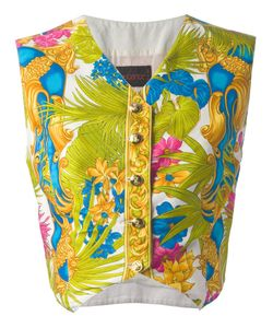 ISTANTE BY GIANNI VERSACE VINTAGE | Flower Baroque Print Waistcoat