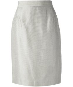 GIANFRANCO FERRE VINTAGE | Silk Pencil Skirt From Featuring A Concealed Rear Zip Fastening