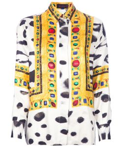 ISTANTE BY GIANNI VERSACE VINTAGE | Silk Shirt From Istante By Gianni Versace Featuring A Classic Collar A Front Button Closure A Dalmatian Print With Colourful Abstract Print Panels An Oversized Fit Long Loose Sleeves And Buttoned Cuffs