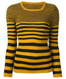 BIBA VINTAGE | And Wool Striped Sweater From Biba Featuring A Square Neck Long Sleeves And A Straight Hem
