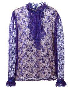 GUY LAROCHE VINTAGE | Кружевная Рубашка С Оборками