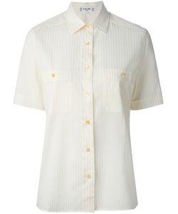 Celine Vintage   Рубашка В Полоску С Короткими Рукавами