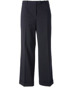 JIL SANDER VINTAGE | Virgin Wool Wide Leg Tailored Trouser From Circa 1990 Featuring A Concealed Front Fastening Side Pockets Turn Up Hems And A Cropped Length