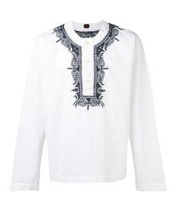 MP MASSIMO PIOMBO | Embroidered Trim Buttoned Tunic Medium