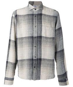 INIS MEÁIN | Inis Meáin Cutaway Collar Shirt Medium Silk/Linen/Flax