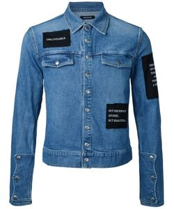 CHRISTIAN DADA | Patched Denim Jacket Size