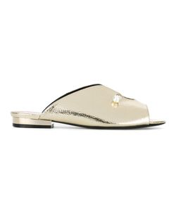Coliac | Pearl Detail Mules Size 38