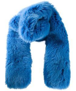 JONATHAN COHEN | Cobalt Fox Fur Scarf From Amarees