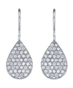 IRENE NEUWIRTH | 18kt Single Pear Shape Earrings From Featuring A Flat Pear Drop With Diamonds 0