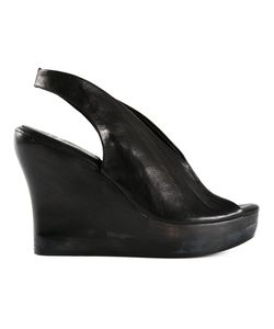 CALLEEN CORDERO   Leather Sling Back Wedge Sandals From