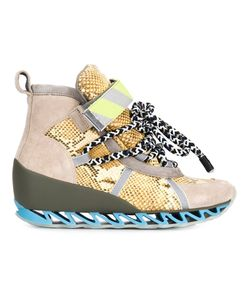 Bernhard Willhelm | Multicoloured Leather And Suede Himalay Hi-Top Sneakers From