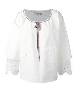 Tsumori Chisato | Ruffle-Sleeve Blouse Small Silk/Cotton