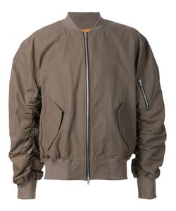 FEAR OF GOD | Silk And Cotton Blend Ruched Sleeves Bomber Jacket From