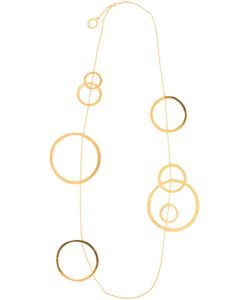Hervé van der Straeten | Plated Sculptural Long Hoops Necklace From Featuring Multiple Hoops Suspended On A Chain