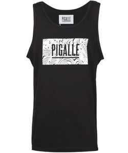 PIGALLE | Cotton Wavy Logo Print Tank Top From