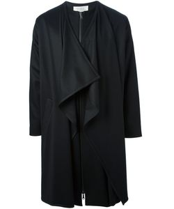 UBI SUNT | Wool Blend Long Cape Coat From Featuring Draped Details A Front Zip Fastening And Long Sleeves