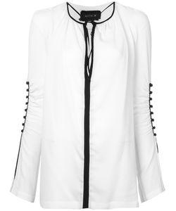 KITX   Gathe Sleeves Blouse 10 Silk