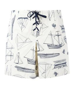 Tory Burch | Boat Print Shorts Size 28