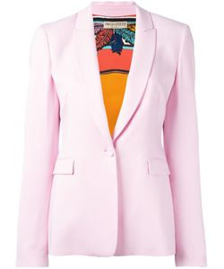 Emilio Pucci | One Button Blazer Size 42 Spandex/Elastane/Acetate/Viscose