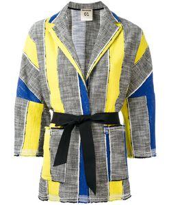 Semicouture   Arthur Belted Jacket Large Cotton/Polyamide/Spandex/Elastane