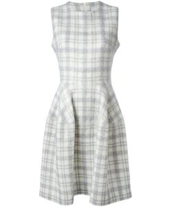 J. JS LEE   Приталенное Расклешенное Платье В Шотландку