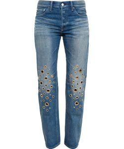 TU ES MON TRESOR   Crystal Star Embellished Jeans