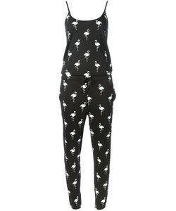 Zoe Karssen | And Cotton Blend Flamingo Print Jumpsuit From