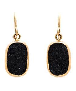 MELISSA JOY MANNING | 14kt Druzy Drop Earrings From Featuring A Hook Fastening