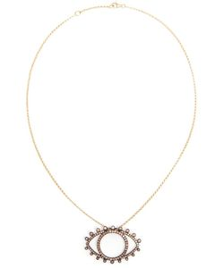 ROSA DE LA CRUZ | 18 Karat Chain With Diamond Eye Medallion From