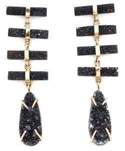MELISSA JOY MANNING | 14kt Druzy Pendant Earrings From Featuring A Butterfly Fastening