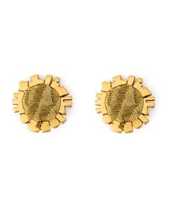 Jean Louis SCHERRER VINTAGE | Disk Clip-On Earrings