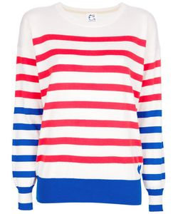 Cat'S Tsumori Chisato | And Cotton Jumper From Featuring A Round Neck Long Sleeves A Front Hem Logo Detail And Horizontal Stripes