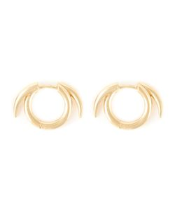 SHAUN LEANE | Vermeil And Sterling Thorned Hoop Earrings From Featuring An Archetypal Modern Classic Signature Tusk Motif For A Sharp Yet Sophisticated Grace