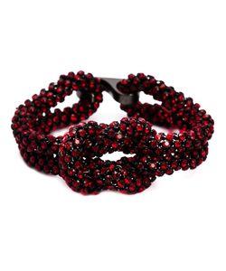 MICHAEL SCHMIDT | Swarovski Crystal Mesh Love Knot Bracelet From