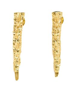 HENSON | Plated Brass Spine Earrings From