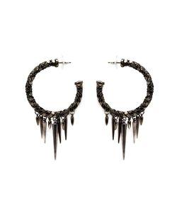 MICHAEL SCHMIDT | Metal Mesh Spike Hoop Earrings From