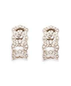 Cartier Vintage | Pave Diamond Link Earrings From Featuring 102 Diamonds Weighing A Total Of 3cts And A Bar Pin Fastening