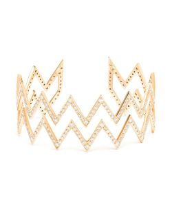 JAGGA | 18k Zigzag Bracelet Inlaid With Diamonds From