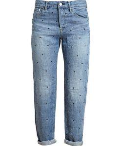 TU ES MON TRESOR | Crystal Embellished Boyfriend Jeans